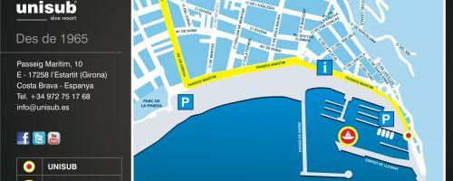 Localisation du Centre de plongée Unisub